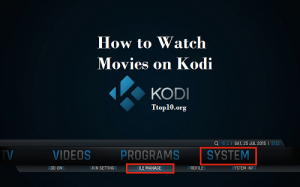 Streaming movies on Kodi