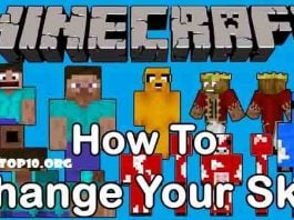 how to change minecraft skin