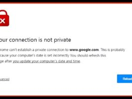 Your Connection is Not Private Chrome