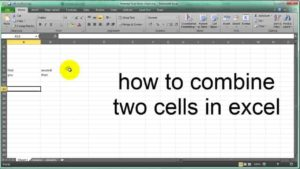 how to join cells in excel