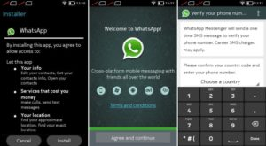 how to setup whatsapp