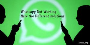 whatsapp not working